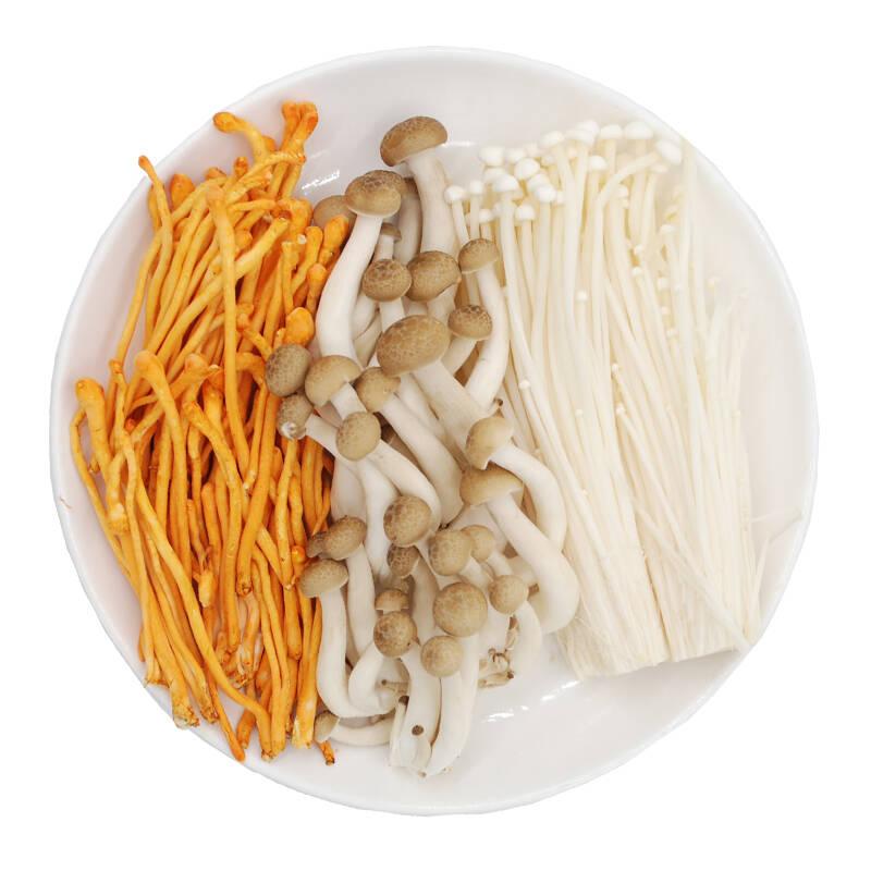 菌菇三丝组合(虫花草+蟹味菇+金针菇) 菌菇 约300g