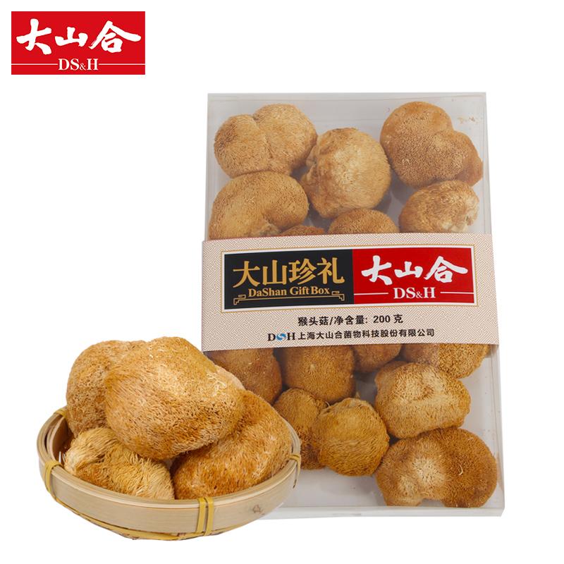 大山合猴头菇猴头菌菇猴头蘑菇特产干货大山珍礼透明礼盒200g