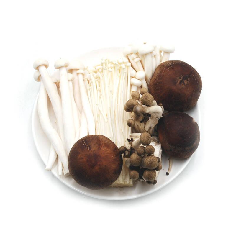 菌菇拼盘 约400g(金针菇+海鲜菇+香菇+黑、白真姬菇)