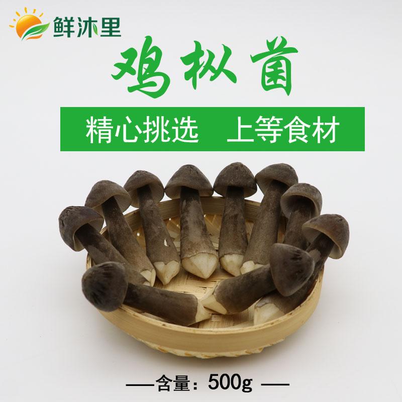 新鲜黑皮鸡枞菌 500g云南特产菌菇,江浙沪包邮