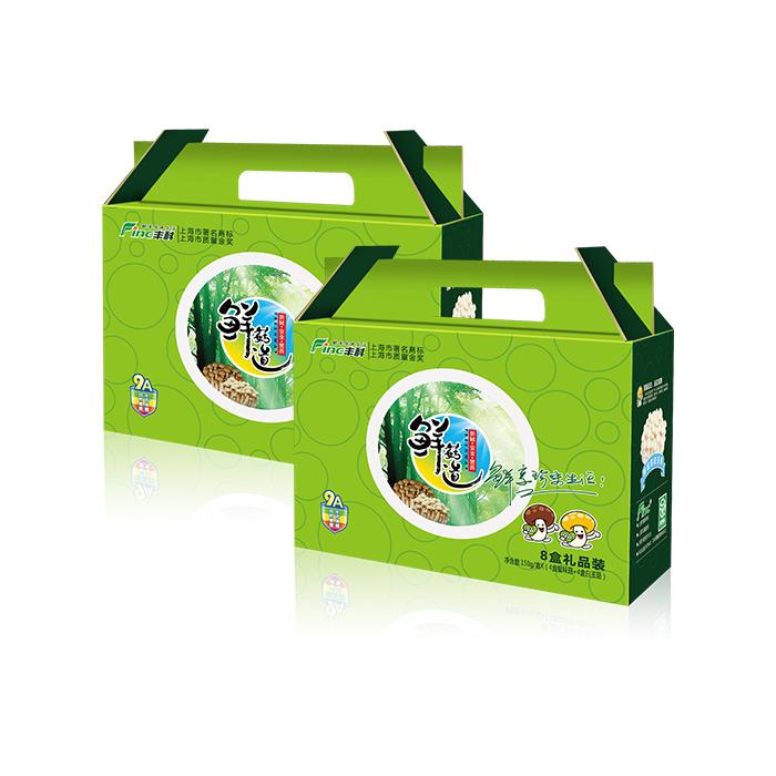 丰科 4+4礼盒白玉菇蟹味菇菌菇节日礼品