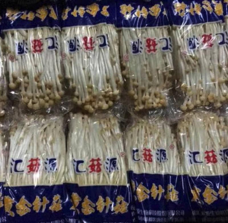 250g黄色金针菇 4包装组合 工厂化栽培 烹饪美食 冷藏可存放1周
