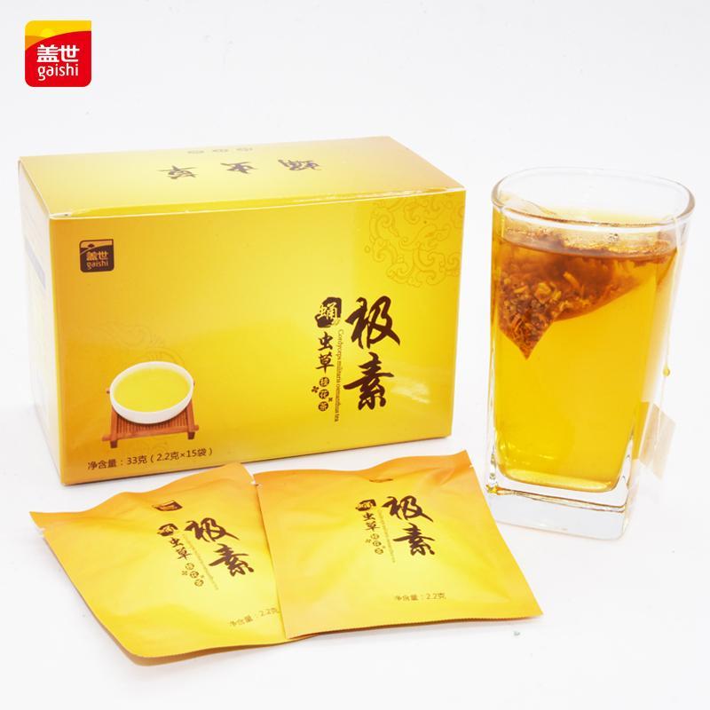 盖世牌 蛹虫草桂花茶(中盒装) 2.2克*15包=33克/盒